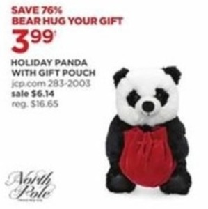 Holiday Panda w/ Gift Pouch