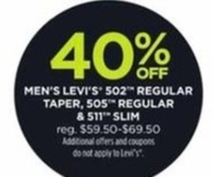 Men's Levi's 502 Regular Taper, 505 Regular & 511 Slim