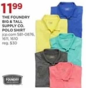 The Foundry Big Tall Supply Co Polo Shirt
