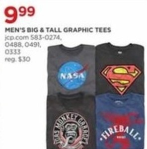 Men's Big Tall Graphic Tees