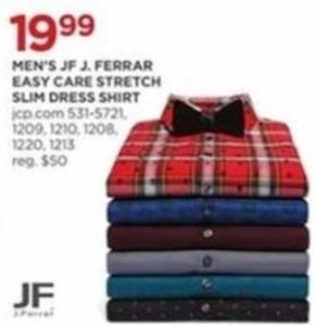 Men's JF J. Ferrar Easy Care Stretch Slim Dress Shirt