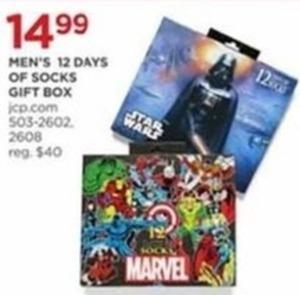 Men's 12 Days of Socks Gift Box