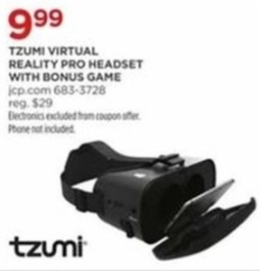 Tzumi Virtual Reality Pro Headset w/ Bonus Game