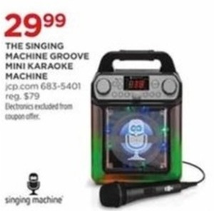 The Singing Machine Groove Mini Karaoke Machine