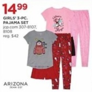 Girls' 3-Piece Pajama Set
