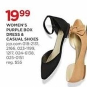 Women's Purple Box Dress & Casual Shoes