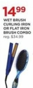 Wet Brush Curling Iron or Flat Iron Brush Combo
