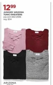 Juniors Arizona Tunic Sweaters