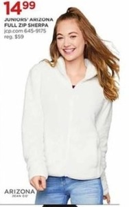 Juniors' Arizona Full ZIp Sherpa