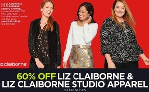 Liz Claiborne and Studio Apparel