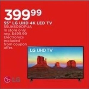55'' LG UHD 4K LED TV
