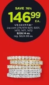 1/3-1/2ct TW Diamond Rings
