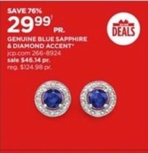 Genuine Blue Sapphire & Diamond Accent Jewelry