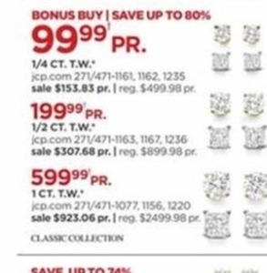 Classic Collection Various Diamond Earrings