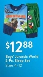 Boys' Jurassic World 2 Pc. Sleep Set