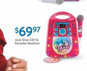JoJo Siwa CD+G Karaoke Machine
