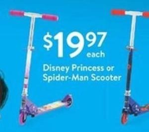 Disney Princess or Spider-Man Scooter