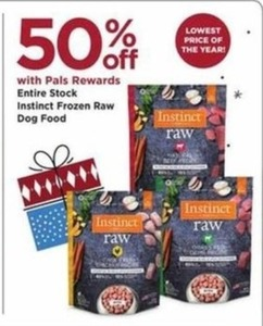 Instinct Frozen Raw Dog Food