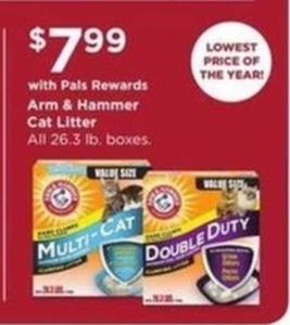 Arm & Hammer Cat Litter w/ $7.99 Pals Rewards
