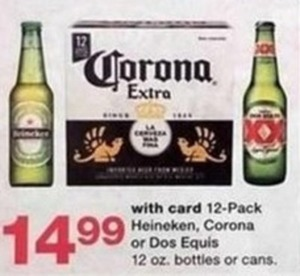12 Pack Heineken, Corona or Dos Equis 12 oz bottles or cans