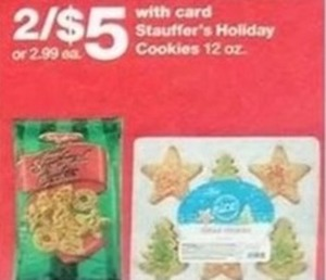 Stauffer's Holiday Cookies w/Card