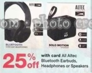 All Altec Bluetooth Earbuds, Headphones, or Speakers