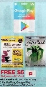 Any 2 Vanilla Visa, Google Play, or Spa & Wellness Gift Cards