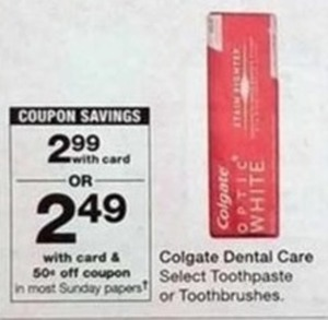Colgate Dental Care w/Card + .50 Off Coupon