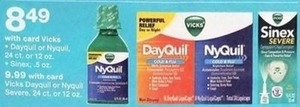 Vicks Dayquil or Nyquil w/Card