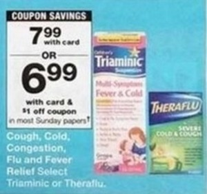Triaminic or Theraflu w/Card + $1 Off coupon