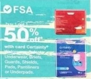 Walgreens Certainty Products w/Card