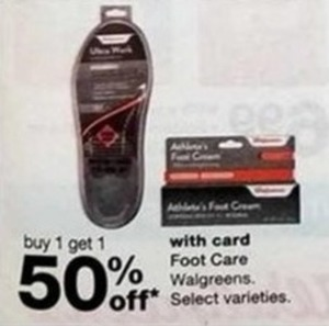 Walgreens Foot Care w/Card