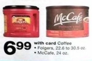 Folgers Coffee or McCafe w/Card