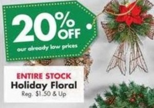 Entire Stock Holiday Floral