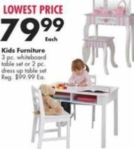 3 Pc. Whiteboard Table Set
