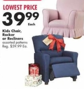 Kids Chair, Rocker Or Recliners