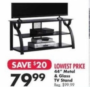 "44"" Metal Glass TV Stand"