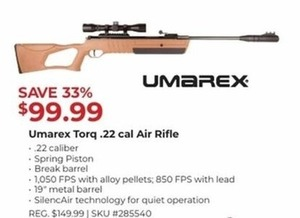 Umarex Torq .22 Cal Air Rifle