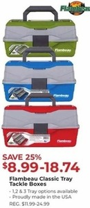 Flambeau Classic Tray Tackle Boxes