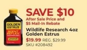 Wildlife Research 40z Golden Estrus After Rebate