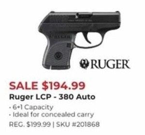 Ruger LCP 380 Auto Hand Gun