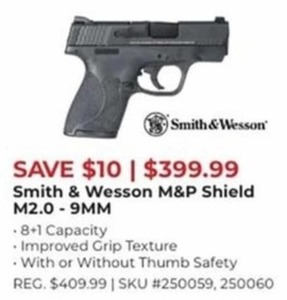 Smith & Wesson M&P Shield M2.0 - 9 MM Handgun
