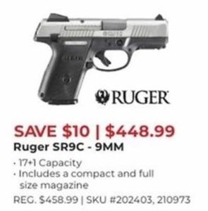 Ruger SR9C 9MM