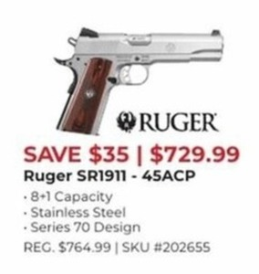 Ruger SR1911 45ACP Handgun