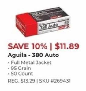 Aguila 380 Auto 50 Count
