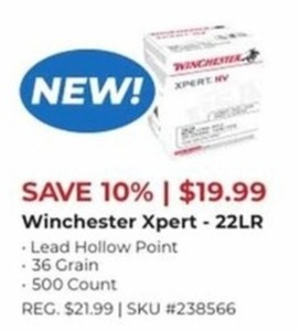 Winchester Xpert 22LR 500 Count