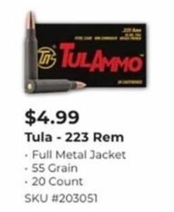 TULA 223 Rem 20 Count