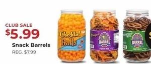 Snack Barrels