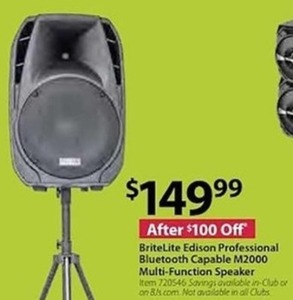 BriteLite Edison Pro. Bluetooth Capable M2000 Multi-Function Speaker