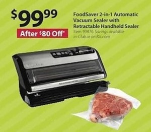 FoodSaver 2-in-1 Automatic Vacuum Sealer w/ Retractable Handheld Sealer
